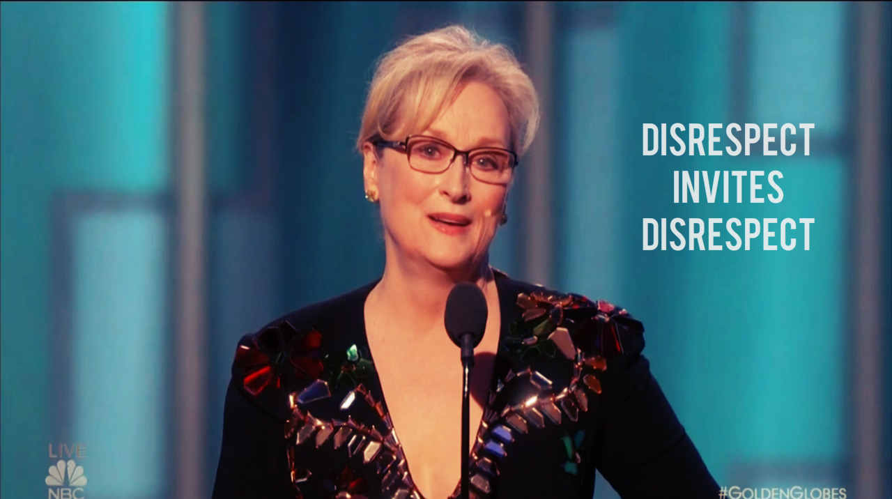 meryl streep golden globe speech